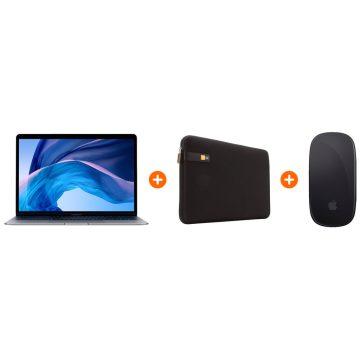 Apple Macbook Air (2020) MWTJ2N/A Space Gray + sleeve + Magic Mouse zwart