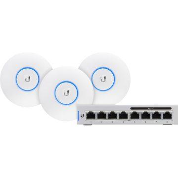 Ubiquiti UniFi AP-AC-LITE 3-Pack + Switch 8-60W