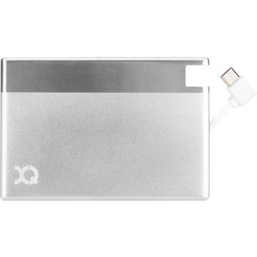 Xqisit Ultra Slim Powerbank 1350 mAh Micro USB Zilver