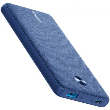 Anker PowerCore Fabric Powerbank 10.000 mAh Power Delivery Blauw
