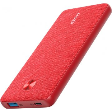 Anker PowerCore Fabric Powerbank 10.000 mAh Power Delivery Rood