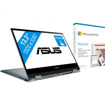 Asus ZenBook Flip 13 UX363EA-EM343T + Microsoft 365 Personal  NL Abonnement 1 jaar