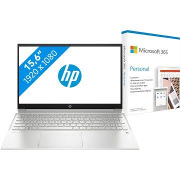 HP Pavilion 15-eh0948nd + Microsoft 365 Personal NL Abonnement 1 jaar