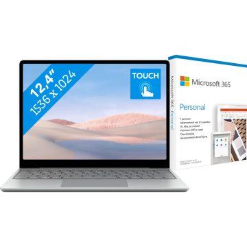 Microsoft Surface Laptop Go - i5 - 8GB - 256GB Platinum + Mi Microsoft 365 Personal NL Abo
