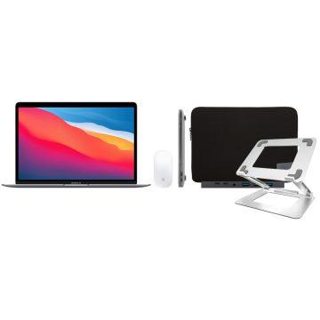 Apple MacBook Air (2020) 16GB/256GB Apple M1 Space Gray + Accessoirepakket Deluxe