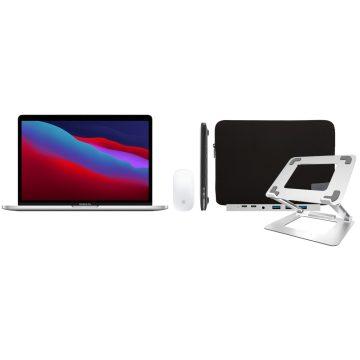 "Apple MacBook Pro 13"" (2020) 16GB/256GB Apple M1 Zilver + Accessoirepakket Deluxe"