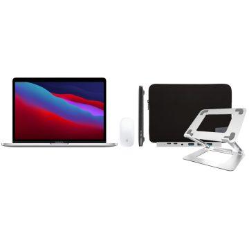 "Apple MacBook Pro 13"" (2020) MYDA2N/A Zilver + Accessoirepakket Deluxe"